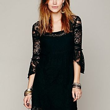 Free People Womens Swinging 60's Dress