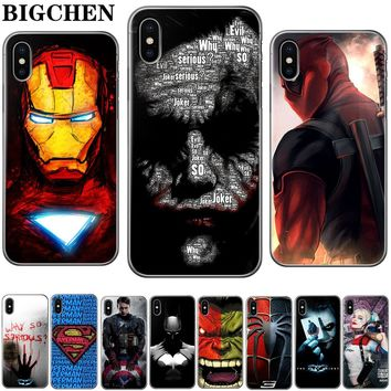 Cool The Avengers Suicide Squad Soft TPU Silicone Cover For iPhone 8 7 6 6s Plus Case for Apple iPhone X 5 5s SE 8 Plus 6sPlus
