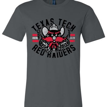 Official NCAA Texas Tech University Red Raiders TTU Masked Raider WRECK EM! Unisex T-Shirt - TEXT1082