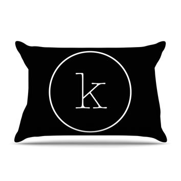 "KESS Original ""Simple Black Monogram"" Pillow Case"