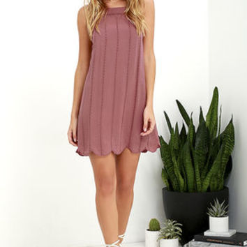 Country Road Mauve Embroidered Dress