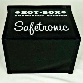 "Vintage Safetronic ""Hot-Box"" Emergency Starter Box, Cables, Terminal Block"