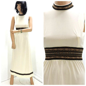 60s Renaissance dress / XS / boho hippie festival dress / vintage 1960s maxi dress / SunnyBohoVintage