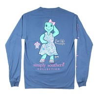 """Simply Southern """" Save Zoey"""" Turtle Long Sleeve Tee Shirt Adult"""