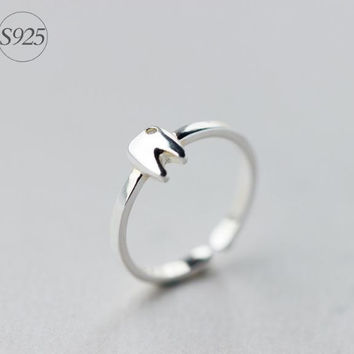 925 Sterling silver opening ring,silver tooth ring,cute tooth ring,a perfect gift