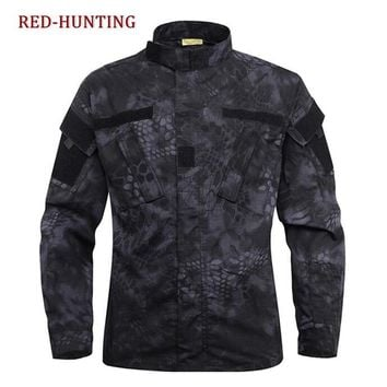 Tactical Kryptek Typhon Camo BDU Field Uniform Camouflage Set Shirt Pants Men's Tactical Hunting Uniform Multicam