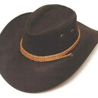NEW BROWN ROPER COWBOY HAT headwear western cap rope ladies mens country items