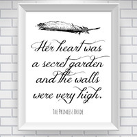 The Princess Bride Print Literary Quote by NeverMorePrints on Etsy