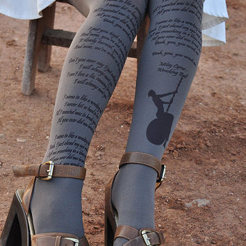 Miley Cyrus Clothing -Tights -Lyrics -Wrecking Ball lyrics