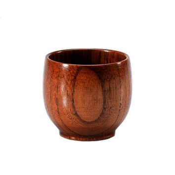 New Original Wooden Cup With High Quality Hand-made Wood Cup For Water Beer Coffee Drinkware Cups Wood Cup Kitchen Accessories