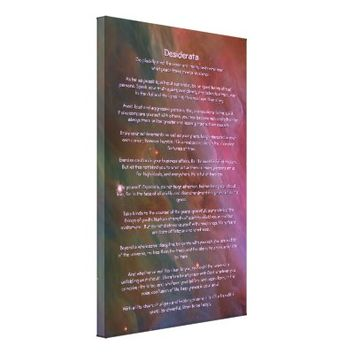 Desiderata Poem - Pillars of Dust, Orion Nebula