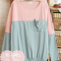 Pastel Two-Tone Sweater