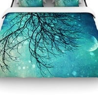 Kess InHouse Sylvia Cook 'Winter Moon' 88 by 88-Inch Duvet, Queen