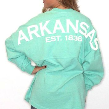 Riffraff | Arkansas Spirit Jersey - mint & white