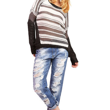 Lined Loose Knit Top