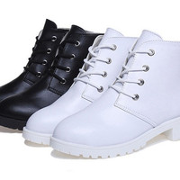 Womens Classic Stylish Ankle Heel City Boots
