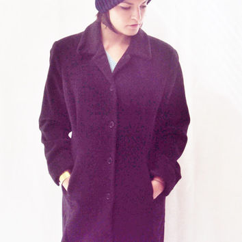 MINIMALIST / Grunge Coat / Wool Coat / Menswear / TOMBOY / Small / Simple / Basic