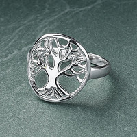 Sterling Tree of Life Ring - New Age, Spiritual Gifts, Yoga, Wicca, Gothic, Reiki, Celtic, Crystal, Tarot at Pyramid Collection