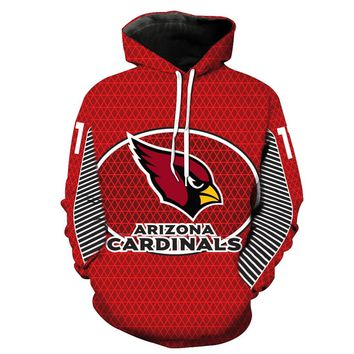 Arizona Cardinals LOGO Printing Hoodies With Hat Street Autumn Fashion Casual Hip Hop Clothing Hoodie Pullover Hoodie Clothing