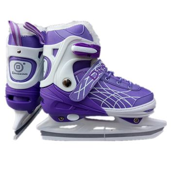 Winter NEW Inline Thermal Professional Women Adult Kids Ice Blade Skates Figure Skating Shoes Adjustable  Kids Adult 4 Colors