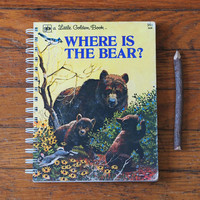 Where Is the Bear notebook little golden book journal