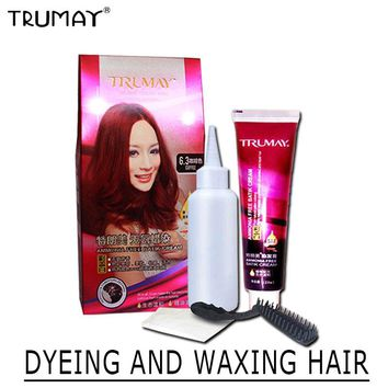 TRUMAY 1 Set No Ammonia Dye & Wax Hair Dye Cream Permanent Constant Not Hurt Hair Coloring Root Cover 12 Colors