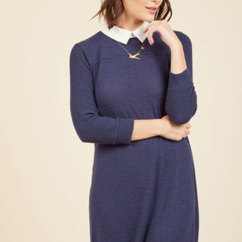 Ardent Academic Sweater Dress in Indigo | Mod Retro Vintage Dresses | ModCloth.com
