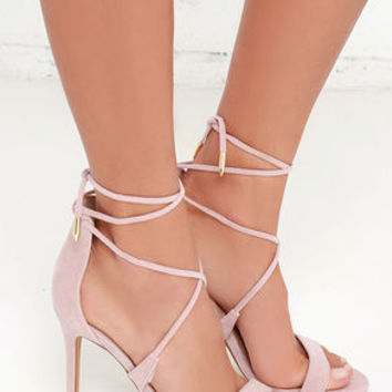 361138ae559 LULUS Romy Dusty Rose Lace-Up Heels from Lulu s
