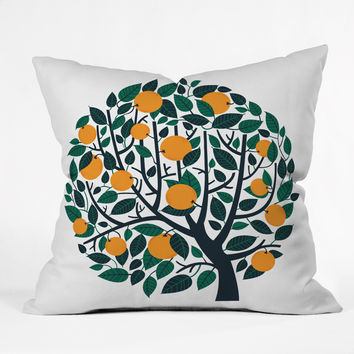 Lucie Rice Orange Tree Outdoor Throw Pillow