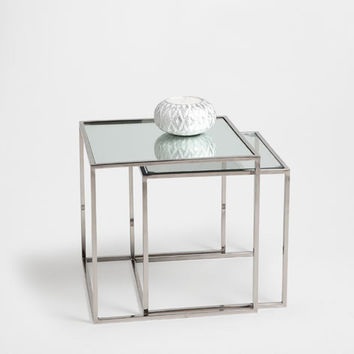Glass nest of tables set of 2 from zara home home for Table zara home