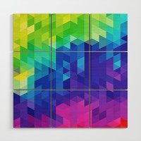 Abstract LGBT Pattern Wood Wall Art by tmarchev
