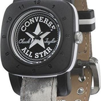 Converse 1908 Premium Watch - VR029 (REGULAR BLACK CASE/WHITE WASHED STRAP)