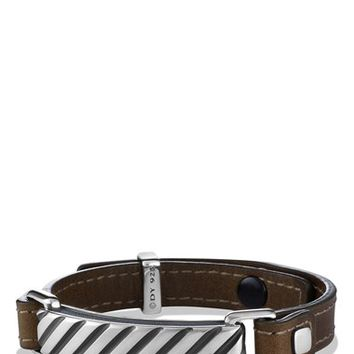 Men's David Yurman 'Modern Cable' ID Bracelet in Army Green - Army Green