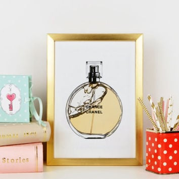 Fashionista,Coco Chanel Print,Perfume Bottle,Modern Home Decor,Change Perfume Bottle ,Chanel Perfume,Fashion Illustration,Fashionista