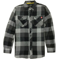 Colter Flannel Black/White (SM)