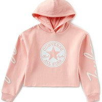 Converse Big Girls 7-16 Chuck Taylor® Cropped Sueded-Fleece Hoodie | Dillards