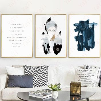 Scandinavian fashion abstract decorative painting wall print poster home decor(NO FRAME NO STRETCH)