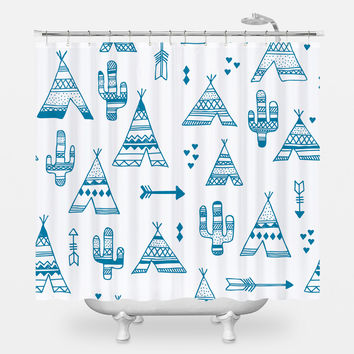 TeePee City Shower Curtain