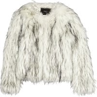 Unreal Fur Unreal Dream faux fur coat – 50% at THE OUTNET.COM