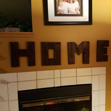 SALE!! HOME individual wood letter sign hand made