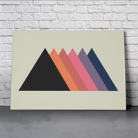 Canvas Wall Art Print - Triangles by Leftfield_Corn