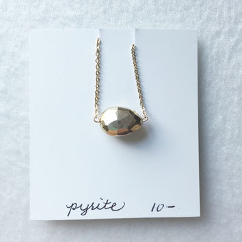 Faceted gold Pyrite pear - trunk show