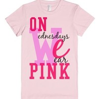 Mean Girls On Wednesday We Wear Pink Tee-Female Light Pink T-Shirt