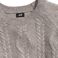 Cable-knit jumper - from H&M