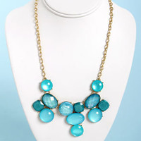 Set in Stones Blue Statement Necklace