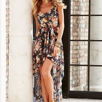 Floral print high low dress from VENUS