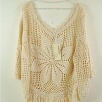 Tassels Hook Flower Sweater $41.00