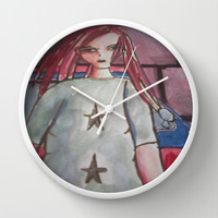 girl with dreads Wall Clock by helendeer