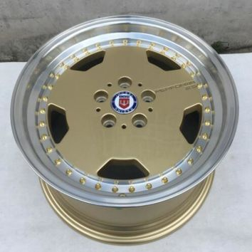 17 inch  17x8.0  5x114.3 Gold deep lip  Car Aluminum  Alloy Wheel Rims
