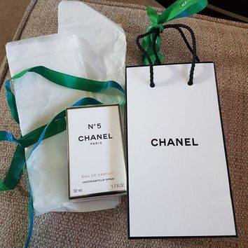 DCK4S2 Chanel no 5 eau de parfum 50ML with gift bag and ribbon new and sealed